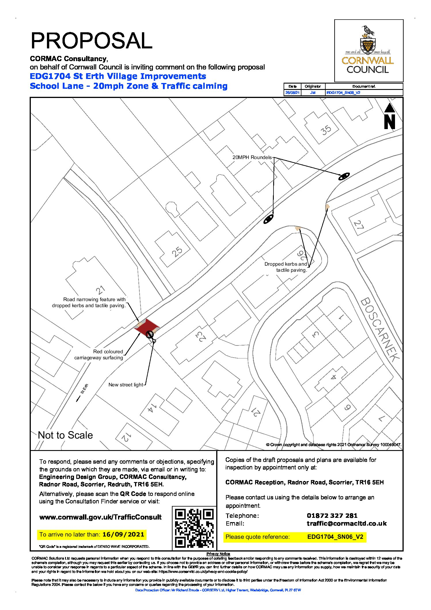 Revised proposals for School Lane consultation
